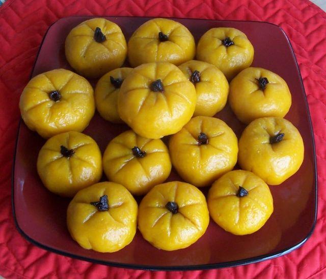 美味餐點小吃 4臺灣傳統風味南瓜包子