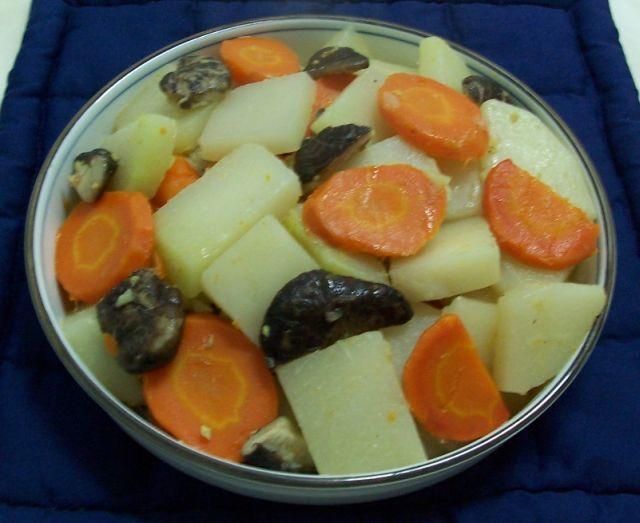 家常素食 6素燒冬菇胡蘿蔔大頭塊