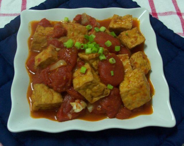 健康家常菜 014油豆腐&紅蕃茄