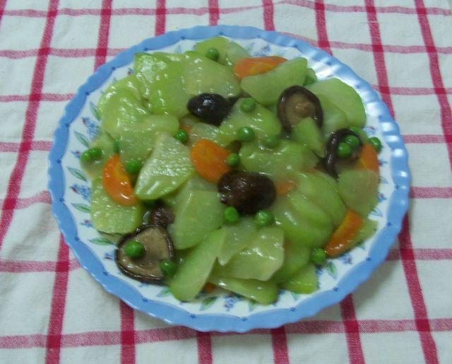 家常素食 13佛手瓜燴香菇&豌豆仁