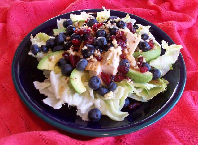 健康家常菜 022藍莓酪梨雞肉生菜沙拉