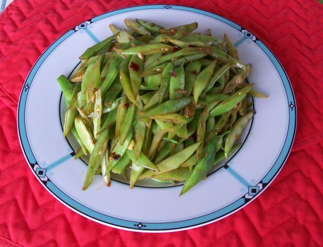 家常素食 22香辣豆角
