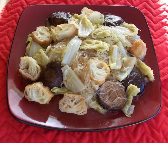 家常素食 33油條粉絲白菜