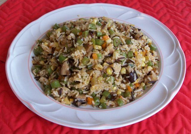 家常素食 37野米素菜飯