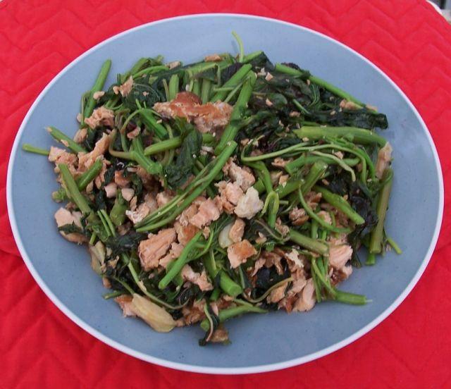 健康家常菜 042魚骨湯汁煮紅莧菜