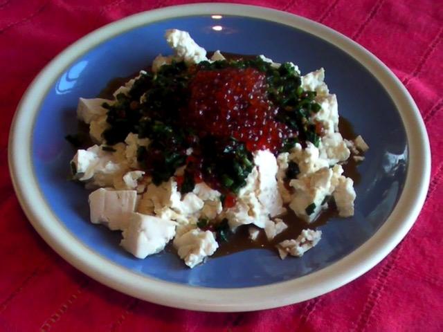 蔬食料理 魚卵香蔥拌豆腐