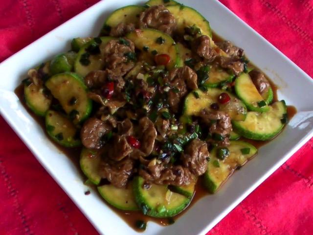 蔬食料理 剁椒麵筋茄瓜