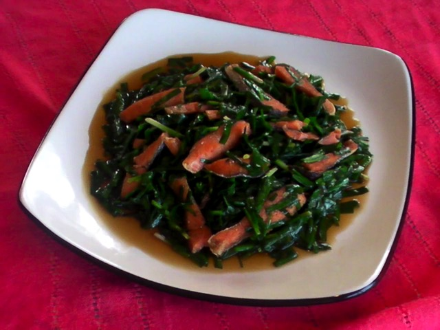 胡奶奶烹飪秀 鹹魚炒嫩韭