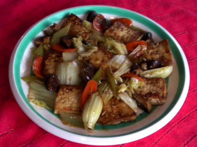 家常素食 蔬菜燒豆腐
