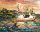 西子灣漁港的黃昏